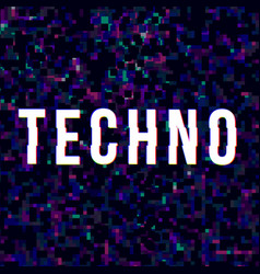 Techno music sign vector