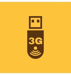 The 3g adapter icon Transfer and connection data vector image