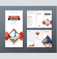 tri fold brochure design corporate business vector image