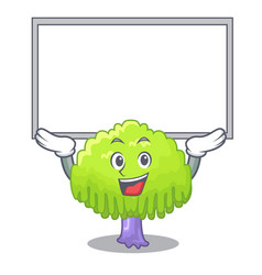 Up board isolated weeping willow on the mascot vector