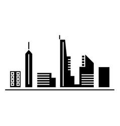 urban skyblack black icon concept urban skyblac vector image