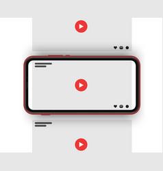 video sharing social media carousel post vector image