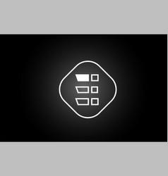 white black e line letter icon alphabet logo vector image