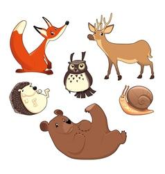 Wood animals vector