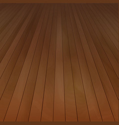 Wood floor perspective view with wooden tex vector