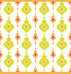 ethnic ikat seamless pattern vector image
