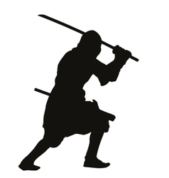 Ninja warriors theme vector