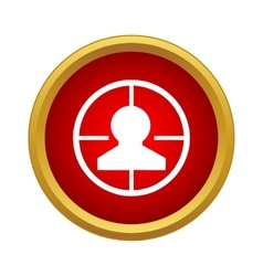 Optical sight icon in simple style vector image