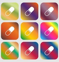 pill icon vector image vector image