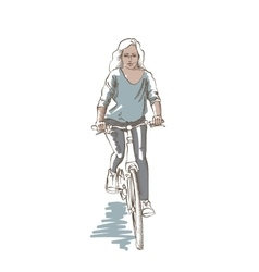 Riding Woman Sketch vector image vector image