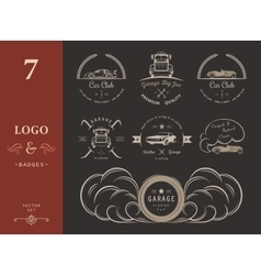 Set of vintage badges vector image vector image