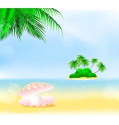 Tropical Island Pearls vector image