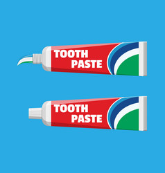tube with squeezed paste package with tooth paste vector image vector image