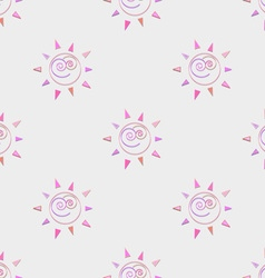 Cartoon sun seamless pattern circle symbol vector image