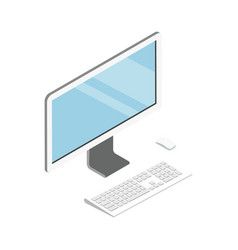 desktop computer isometric 3d icon vector image vector image