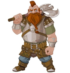 Fantasy style dwarf vector