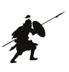 Oriental warrior vector image
