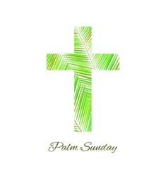 Palm Sunday cross isolated on white background vector image
