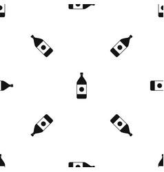 water bottle pattern seamless black vector image