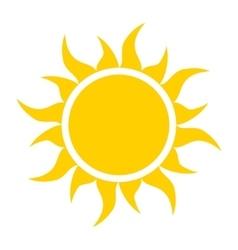yellow sun icon vector image vector image