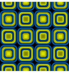 Bulge Squares Optical Seamless Pattern vector image