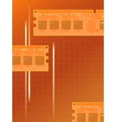 electronic memory vector image vector image