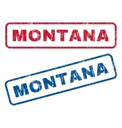 Montana Rubber Stamps vector image