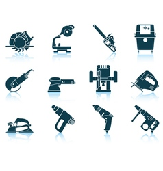 Set of electrical work tool icon vector image vector image