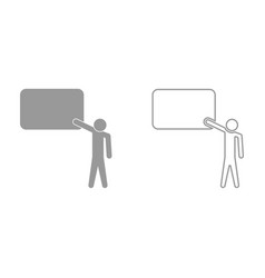 teacher standing near board it is icon vector image