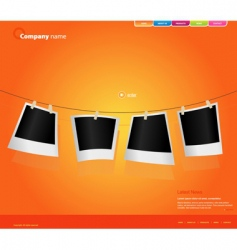website template with photos vector image vector image