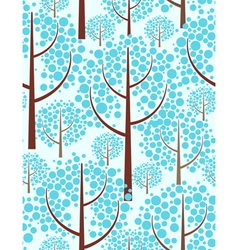 Winter forest - Seamless background vector image vector image