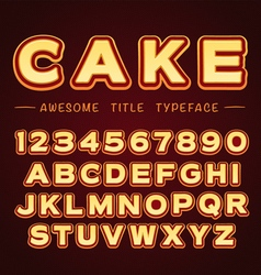 3D Title Font in Cartoon style vector image vector image