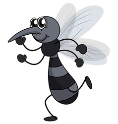 A smiling mosquito vector image