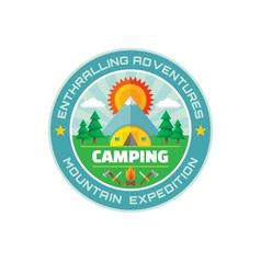Camping - enthralling adventures - mountain vector image