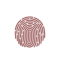 fingerprint Icon Image Flat fingerprint icon app vector image vector image