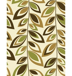 Retro leaves - Seamless background vector image
