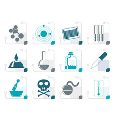 stylized chemistry industry icons vector image vector image