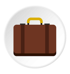 suitcase icon circle vector image vector image