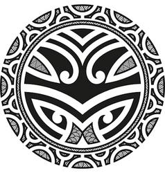 Taniwha circle vector image