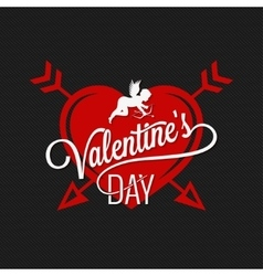 Valentines Day Heart And Arrows Background vector image vector image