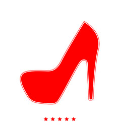 woman shoes it is icon vector image vector image