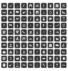 100 wine icons set black vector image