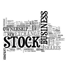 a brief history of the stock market text word vector image