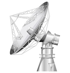 A grey satellite vector