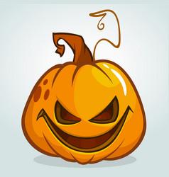 A scary halloween pumpkin jack vector