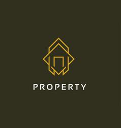 abstract property logo template design emblem vector image