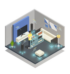 augmented reality composition vector image