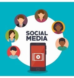 Avatar smartphone social media isolated icon vector