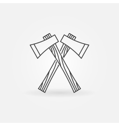 Axe line icon vector image