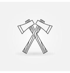 Axe line icon vector